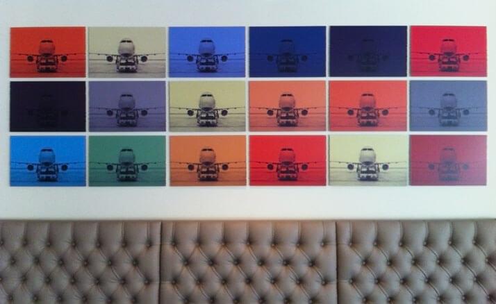 Innenraumdesign: Wandbild aus 18 Einzelbildern