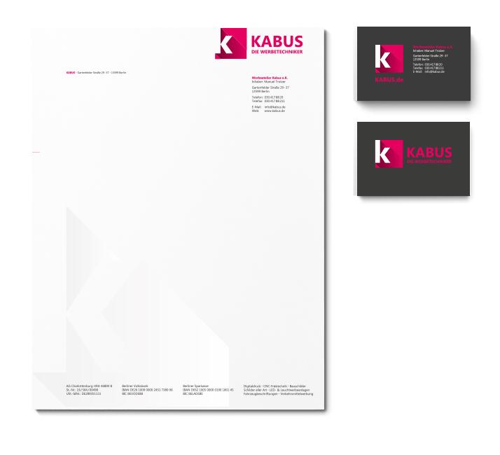 Corporate Design Geschäftsausstattung Kabus