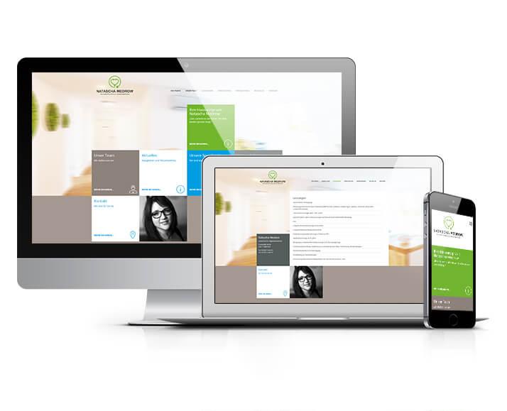 Website - Konzept und Umsetzung für die Hausarztpraxis Natascha Medrow
